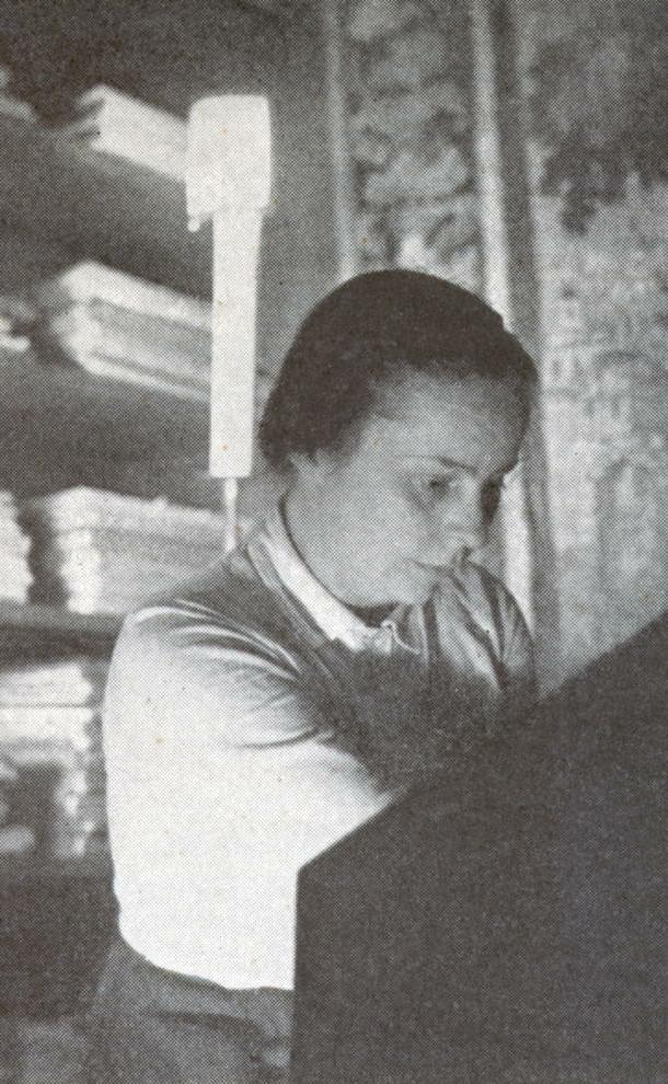 Isolde AHLGRIMM, début des années 1950, photo de presse Philips, cliquer pour une vue agrandie