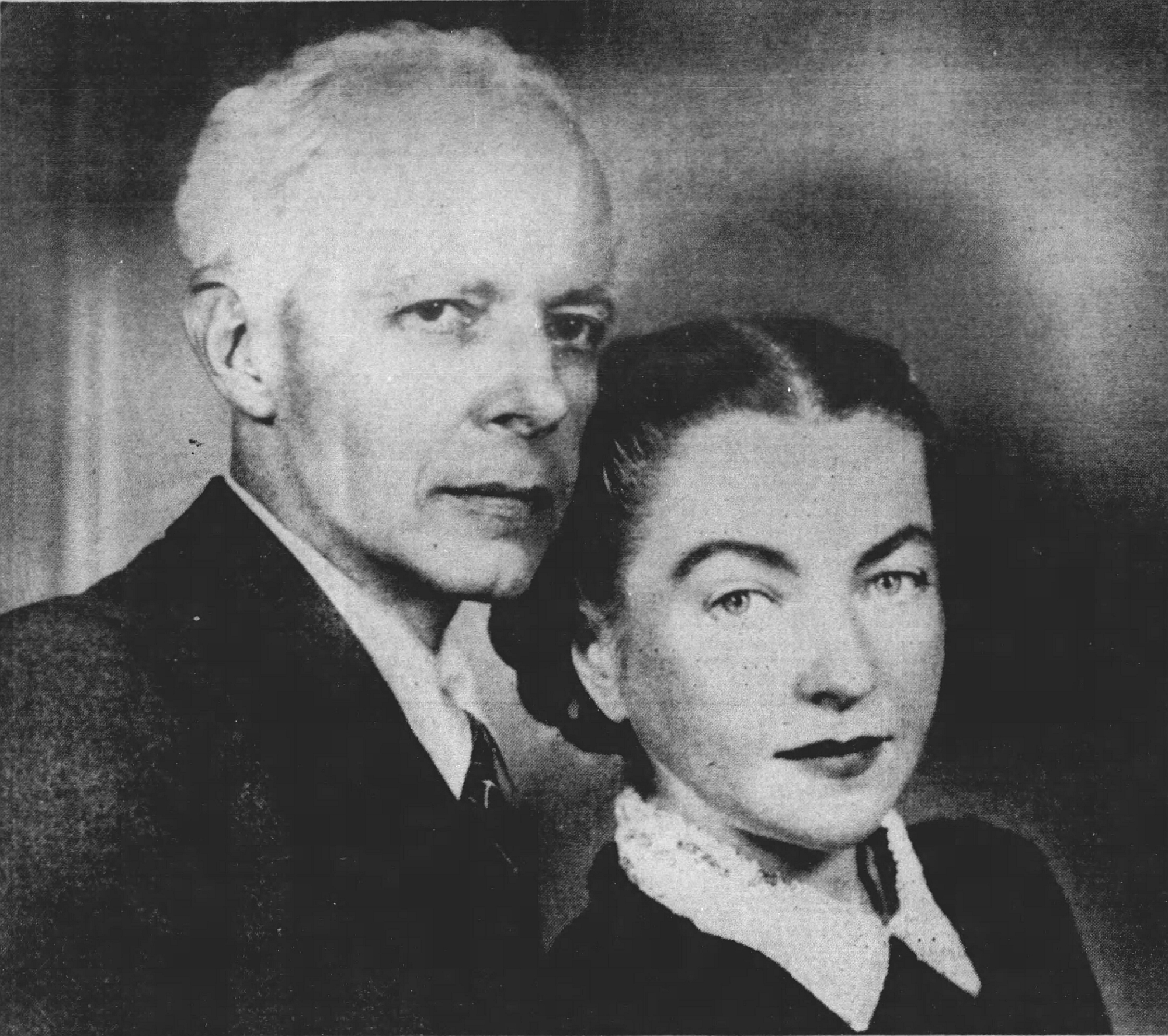 Bela BARTOK et Ditta PASZTORY-BARTOK, photo publiée - entre autres - dans le «The Detroit Free Press» du dimance 23 mars 1941, cliquer pour une vue agrandie