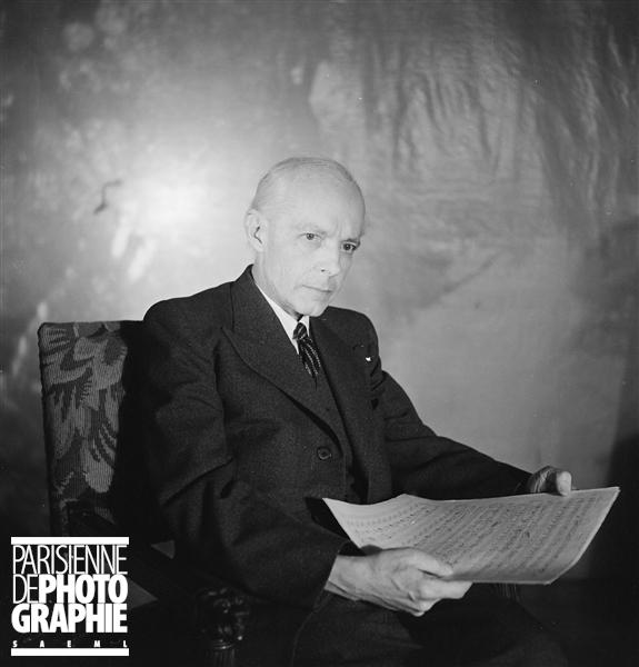 Bela BARTOK, mars 1939, une photo de Boris LIPNITZKI citée de la collection Roger-Viollet du site ParisEnImages