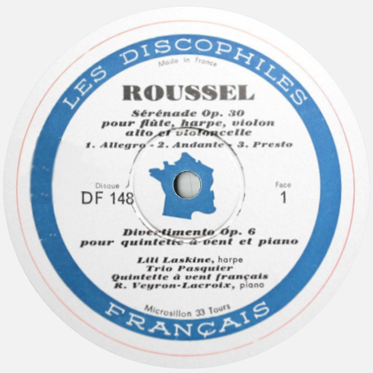 Étiquette du disque DF 148, cliquer pour une vue agrandie