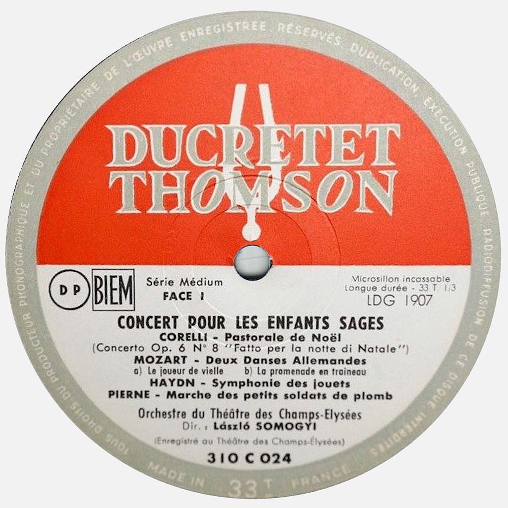 Ducretet Thomson 310 C 024, étiquette, clicquer pour une vue agrandie