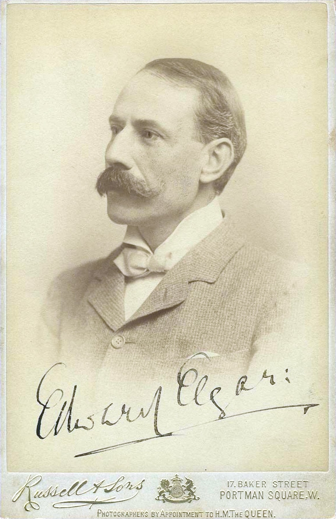 Edward ELGAR en 1904, source: IMSLP