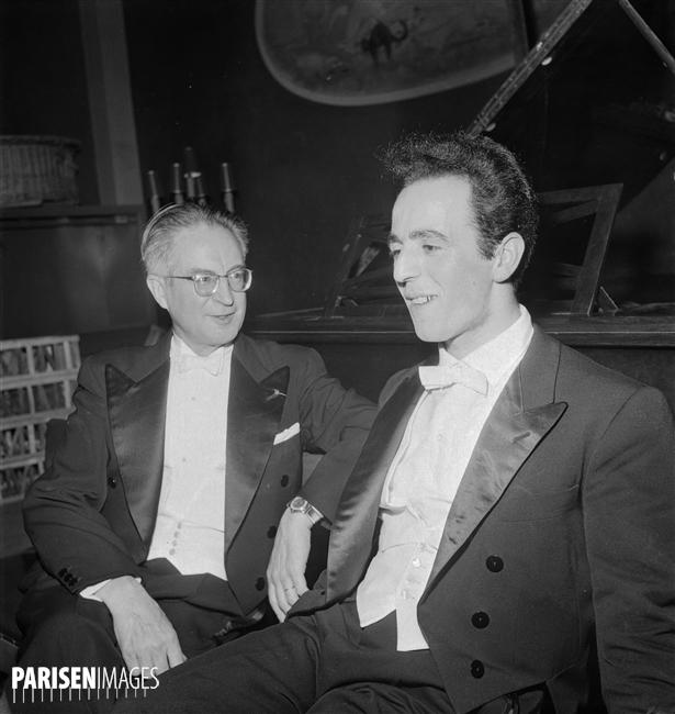 Louis FOURESTIER en juin 1961, avec Jean Ter-Merguerian à droite, une photo © Roger-Viollet / Lipnitzki du site ParisEnImages, Numéro d'image: 73169-10, Numéro d'inventaire: LIP-2212-012, cliquer pour une vue agrandie et quelques informations