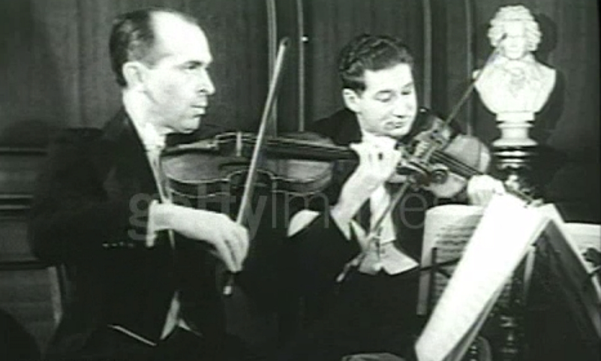 David GUILET (1er violon) et Jac GORODETSKY (2e violon)