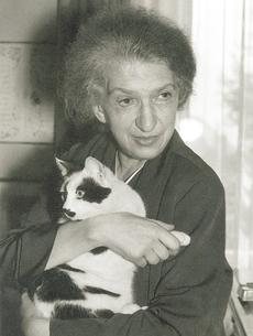 Clara HASKIL et son chat Jérôme, cliquer pour une vue agrandie