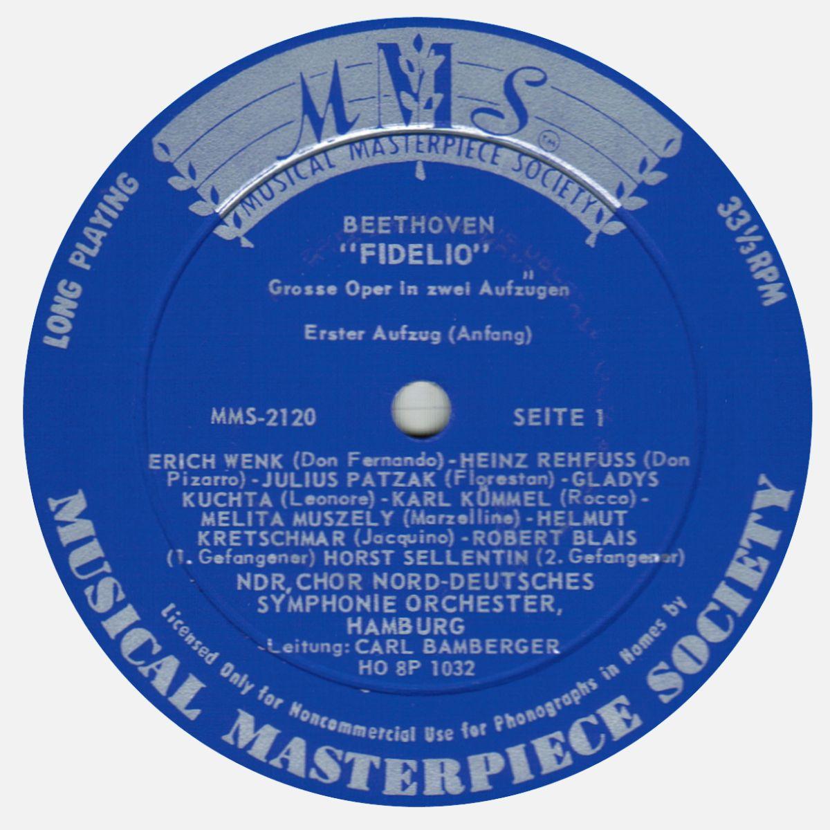 MMS 2135, Étiquette recto disque MMS-2120