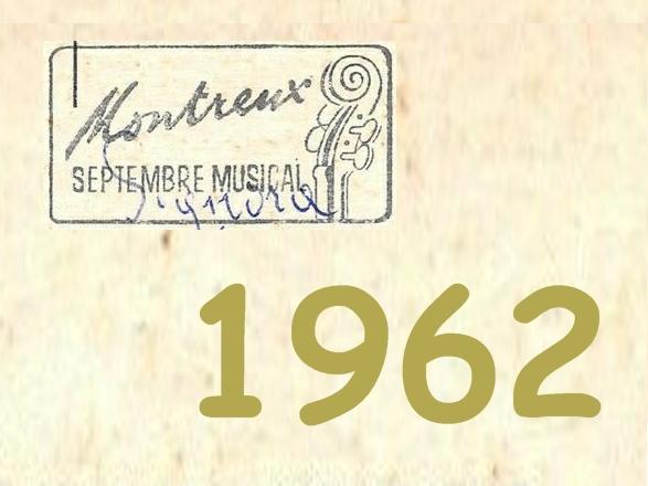 Septembre Musical de Montreux sur notreHistoire