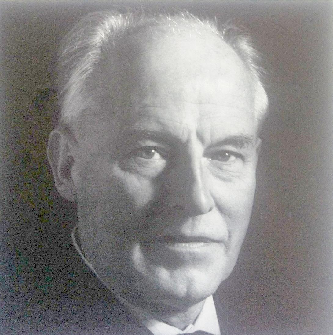 Portrait de Karl RISTENPART publié dans divers albums de disques des années 1950, cliquer pour une vue agrandie