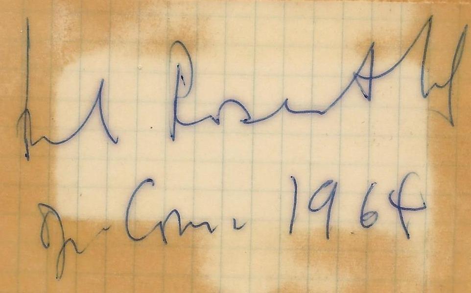 Document provenant de la collection privée de Daniel Achache: 1964, à l'Opéra-Comique de Paris, Manuel ROSENTHAL venait de diriger l'opéra Zoroastre de Jean-Philippe RAMEAU, cliquer pour une vue agrandie