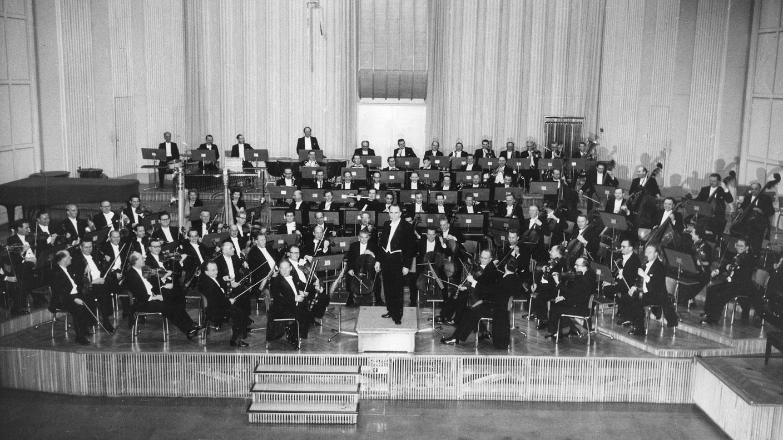 Suedwestfunkorchester im Musikstudio Baden-Baden mit Hans Rosbaud
