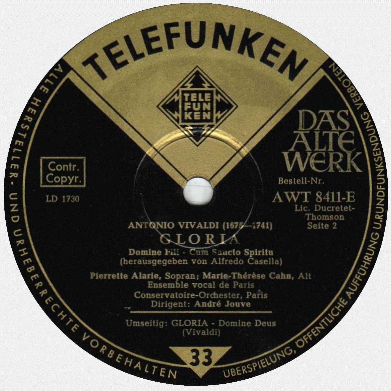 Telefunken AVT 8411-E, étiquette 2e face, clicquer pour une vue agrandie
