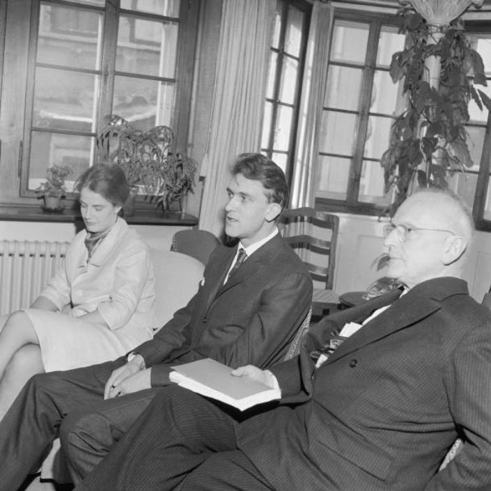 Adrienne et Christian VÖCHTING en 1963 avec Emil LANDOLT, Cliquer sur la photo pour une vue agrandie
