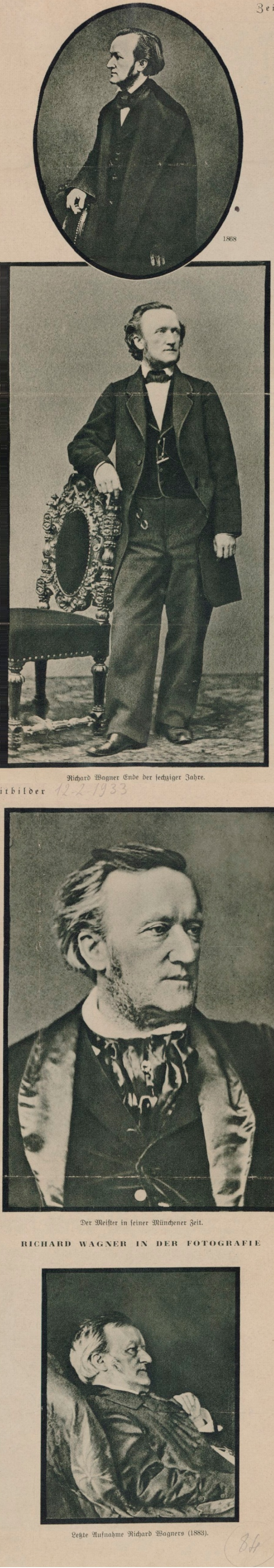 Diverses photographies de Richard Wagner