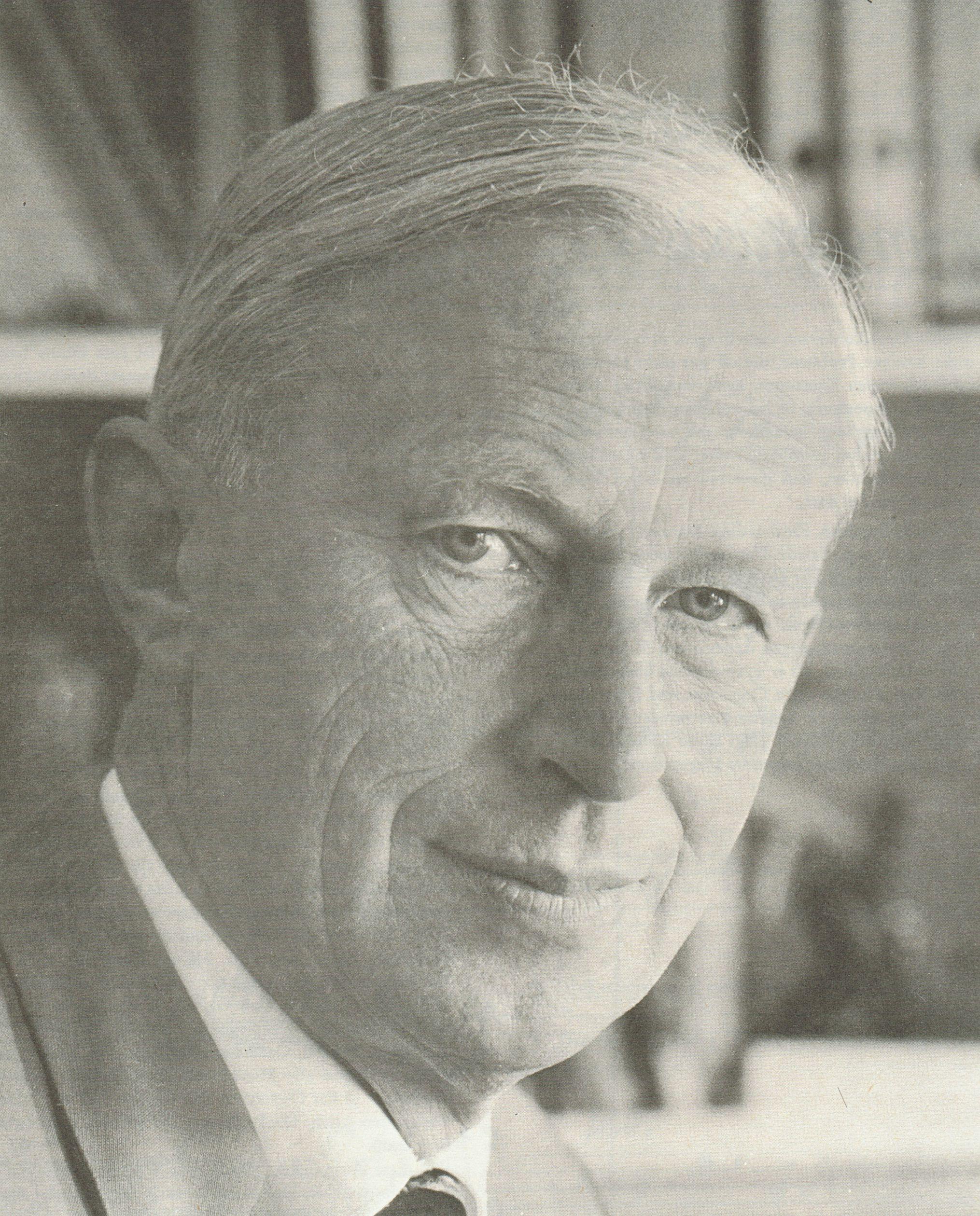 August WENZINGER, un portrait fait par Peter MOESCHLIN, Basel, probablement début des années 1960, publié entre autres dans le coffret DG Archive Production SAPM 198386, cliquer pour une vue agrandie