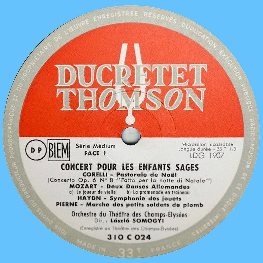 Ducretet Thomson 310 C 024 Label 1 65C2FC
