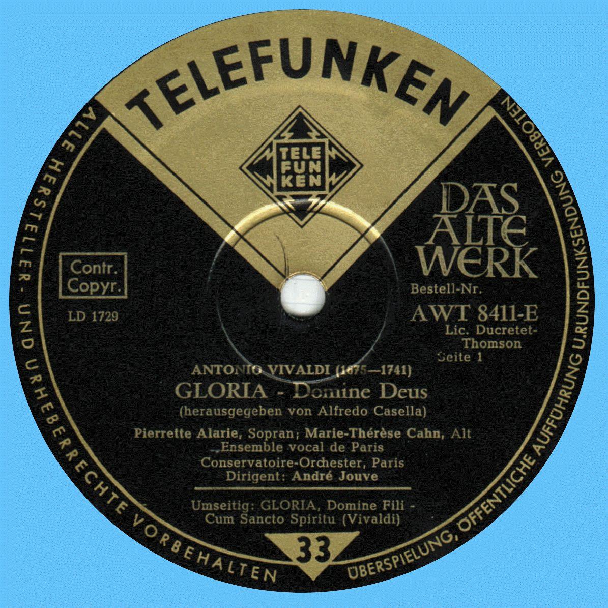 Telefunken AVT 8411 E Label 1 64C2FC