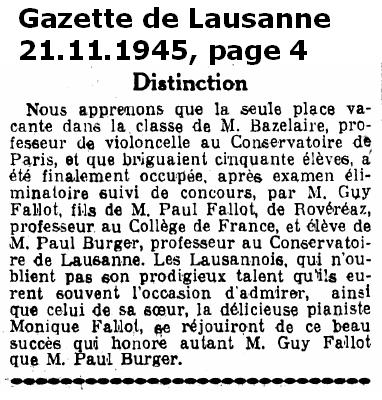 Fallot Guy Gazette de Lausanne 21 11 1945 Page 4