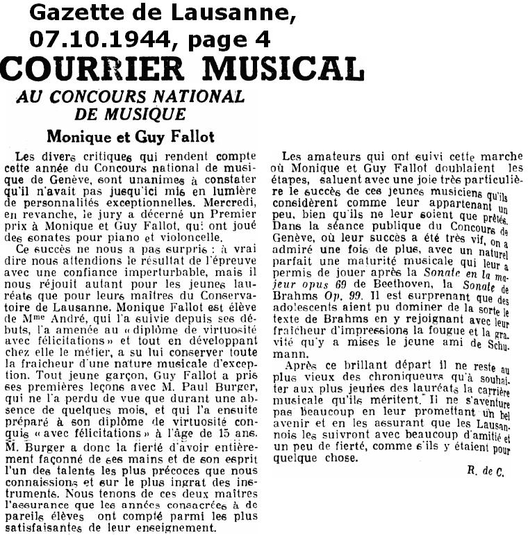 Fallot Guy Gazette de Lausanne 07 10 1944 Page 4