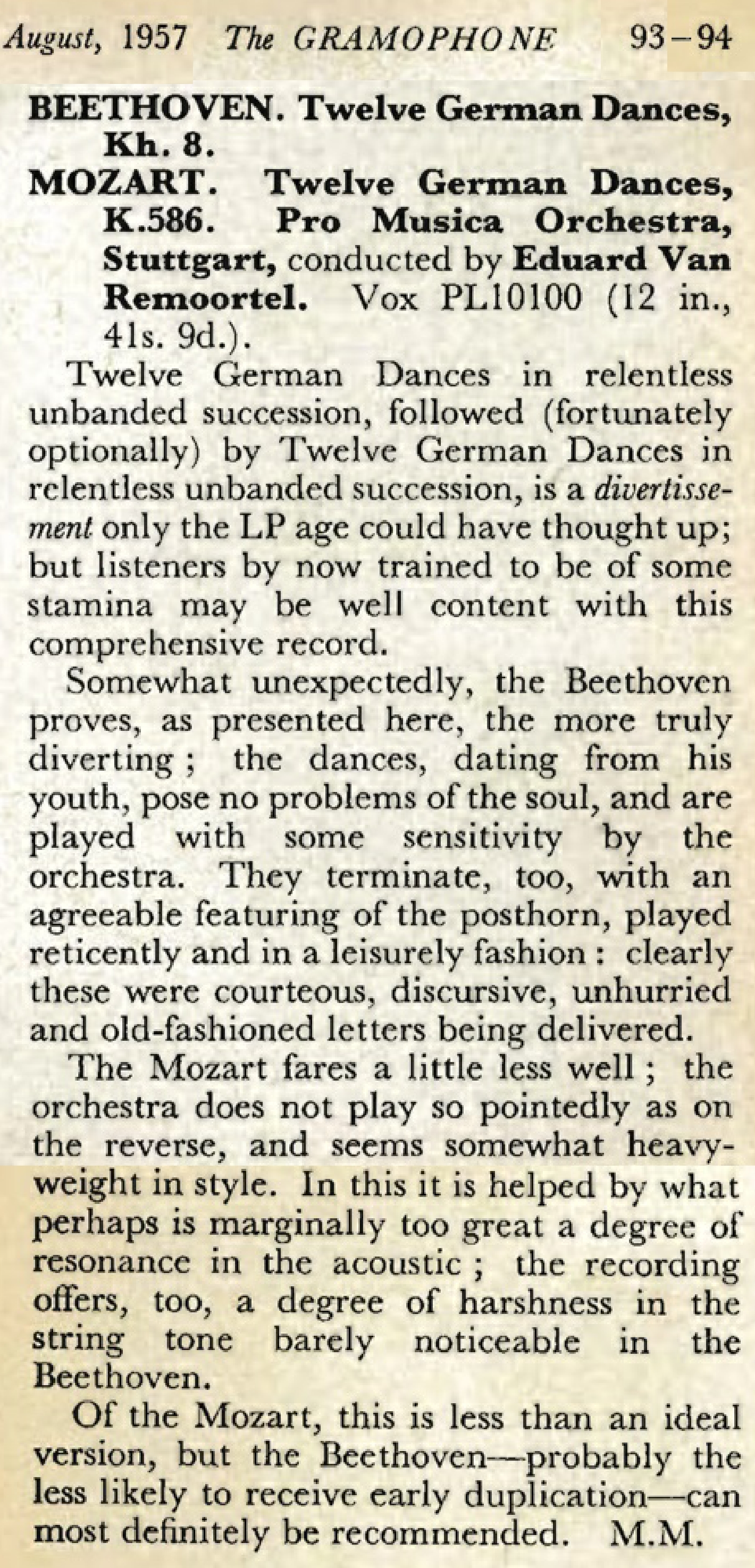 The Gramophone August 1957 pages 93 94