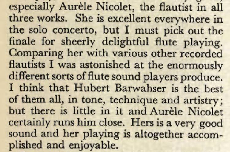 Extrait The Gramophone September 1962 page 141