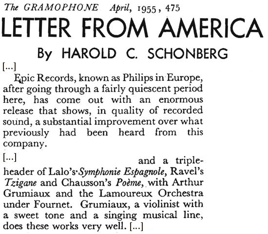 The Gramophone April 1955 page 475 Extrait