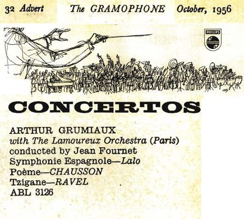 The Gramophone October 1956 page 32 Advert Extrait